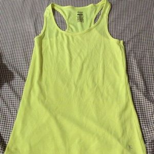 Neon yellow Danskin tank top!!